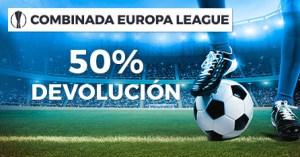 Combinada Europa league 50% devolucion en Paston
