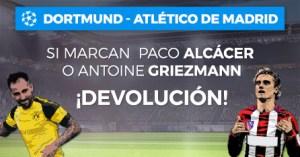 Dortmund-At.Madrid si marcan Alcacer o Griezmann devolucion en Paston