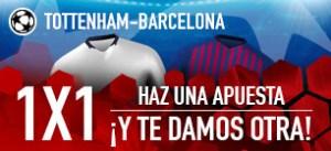 Tottenham-Barcelona haz una apuesta y te damos otra en Sportium