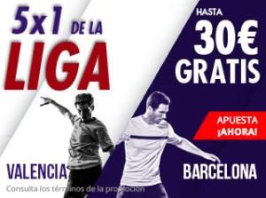 5 por 1 de la liga Valencia-Barcelona en Suertia