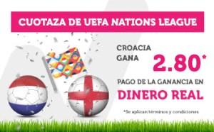 Cuotaza gana Croacia 2.80 Uefa Nations en Wanabet