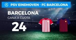 Megacuota 24 gana Barcelona a Psv en Paston