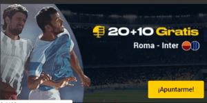 20 mas 10 Roma -Inter en Bwin