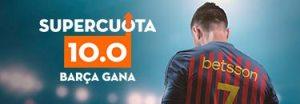 Megacuota 10 gana Barcelona en Betsson