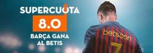 Megacuota 8.0 para el Barcelona en liga con Betsson