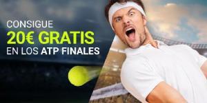 Consigue 20€ gratis en los ATP finals con Luckia
