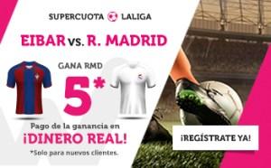 Megacuota 5 gana R.Madrid al Eibar en Wanabet