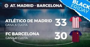 Megacuota doble 33 para At Madrid y 30 para Barcelona en Paston
