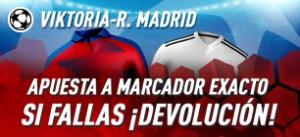 Victoria-R.Madrid apuesta a marcador exacto si fallas devolucion en Sportium