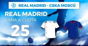 Megacuota 25 gana Madrid a Cska Moscu en Paston