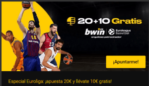 20€+10€ Gratis Euroliga en Bwin
