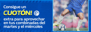 Consigue un cuoton extra para tus combinadas en William Hill