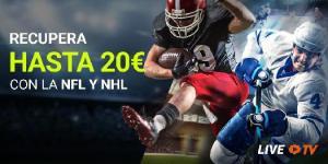 Recupera hasta 20€ con la NFL y NHL en Luckia