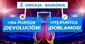 Unicaja-Baskonia +164 ptos devolucion +173 ptos doblamos tus ganancias en Paston