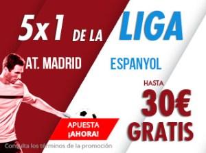 5 por 1 de la liga R.Madrid-Espanyol gana hasta 30€ gratis con Suertia