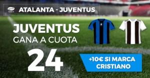 Megacuota 24 gana Juventus en Paston