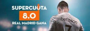 Megacuota 8 gana R. Madrid a Villarreal en liga con Betsson