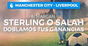 Manchester C.-Liverpool si marcan Sterling o Salah doblamos tus ganancias en Paston