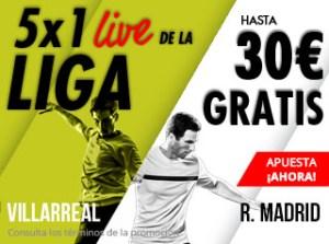5 por 1 live de la liga gana hasta 30€ gratis con Suertia