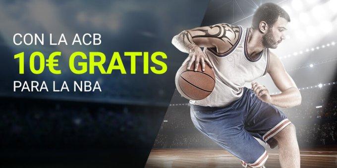 Con la ACB 10€ gratis para la NBA con Luckia