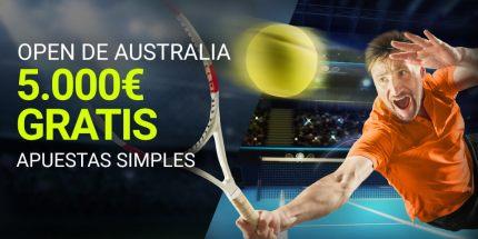 Open de Australia 5.000€ gratis,apuestas simples en Luckia