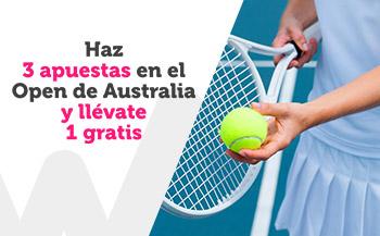 Haz 3 apuestas al Open de Australia y llevate una gratis con Wanabet