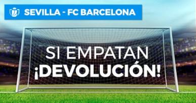 Sevilla-Barcelona si empatan devolucion en Paston