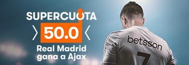 Megacuota 50 gana R.Madrid en Champions con Betsson
