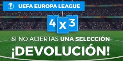 Europa League 4x3 si no aciertas una seleccion devolucion en Paston
