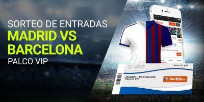 Sorteo de entradas Real Madrid-Barcelona en Luckia