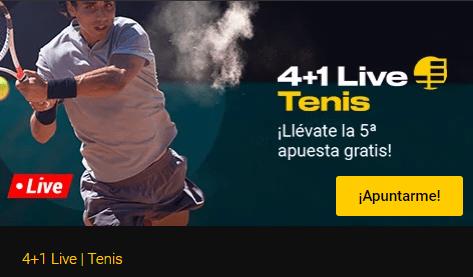 4+1 Live en tenis con Bwin