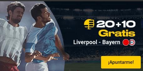 20+10 Liverpool-Bayern en Bwin