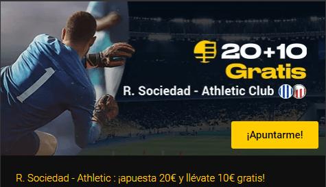 20+10 gratis R.Sociedad-At Bilbao en Bwin