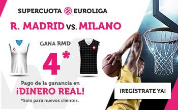 Megacuota 4 gana Madrid a Milano con Wanabet