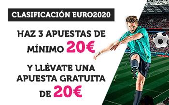 Clasificacion Euro 2020 llevate una apuesta gratuita de hasta 20€ en Wanabet