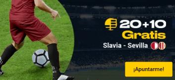 20+10 gratis Slavia-Sevilla en Bwin