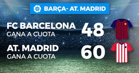 Megacuota doble para Barcelona y Atletico en Paston