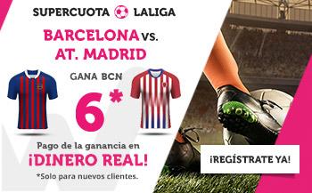 Megacuota 6 para Barcelona en liga con Wanabet