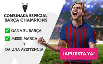 Combinada especial Barcelona Champions en Wanabet