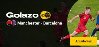 Golazo Manchester-Barcelona,gana el doble en Bwin