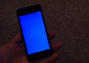 iphone 5s Pantallazo azul