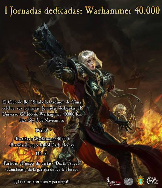 Jornadas Warhammer 40K. Nov 2013
