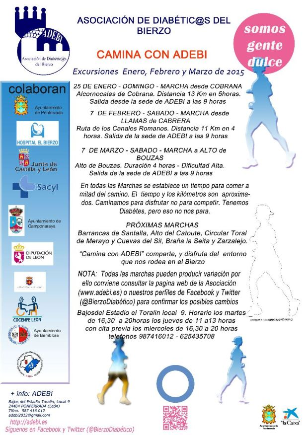 Programa de Camina con ADEBi 2015