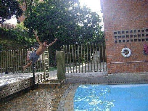 salto piscina