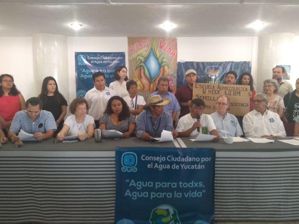 Consejo ciudadano por el agua de Yucatán exige a legisladores federales reconocer las particularidades del territorio yucateco