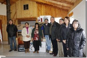 FOTO comunidad de Loncofilo recibe materiales para su sede