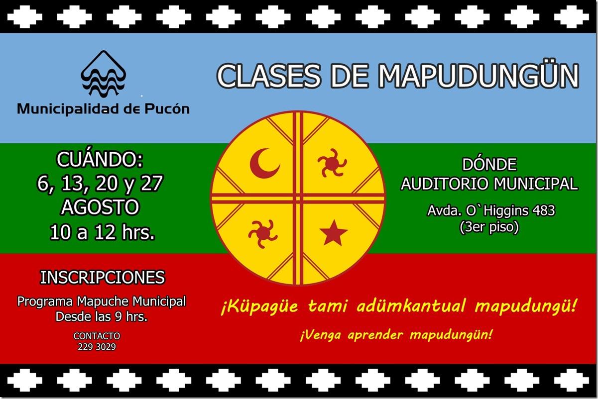 AFICHE clases mapudungun (1)