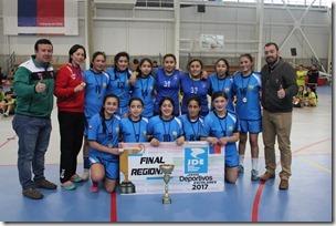 Colegio Alberto Hurtado de Villarrica Campeonas Damas Balonmano sub 14