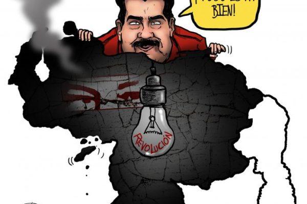 Caricatura de Pinilla: El país a oscuras… pero todo está bien