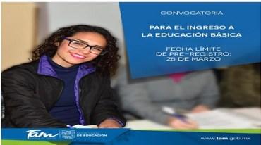 Invitan al Concurso para el Ingreso a la Educación Básica 2019-2020